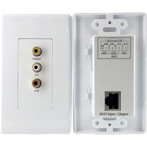 Composite Video Stereo Audio Wall Plate Video Extender / Mfr. No.: Computpwalla