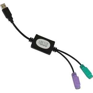 Adesso Dual Ps2 (2) To USB(1) Adapter For Win-Touch Tru-Form and Others / Mfr. No.: Adp-Pu21
