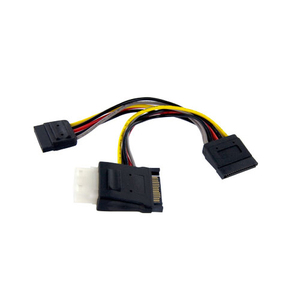 Serial Ata To Lp4 With 2x Ata Power Splitter Cable / Mfr. No.: Pyolp42SATA