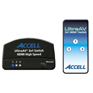 Accell UltraAV 3x1 HDMI Switch
