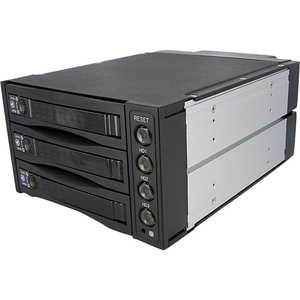 2.5in / 3.5in Removable 4 Drive Sas SATA Mobile Rack Backplane / Mfr. No.: Satsasbay3bk