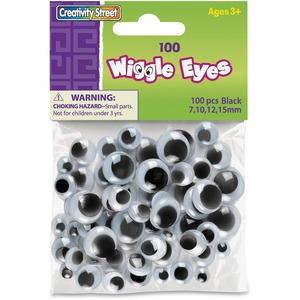 Creativity Street® Wiggly Eyes Black Assorted Sizes 200/pkg