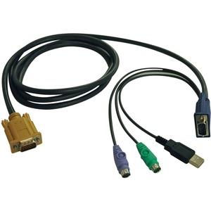 6ft USB/Ps2 KVM Cable Kit F/ B020-U08/U16-19-K and B022-U16 / Mfr. No.: P778-006