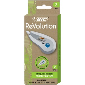 Bic® Wite-Out® ECOlutions Correction Tape 1 Line 5mm x 6m 2/pkg