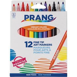 Prang® Washable Fine Line Markers Classic Colours 12/pkg
