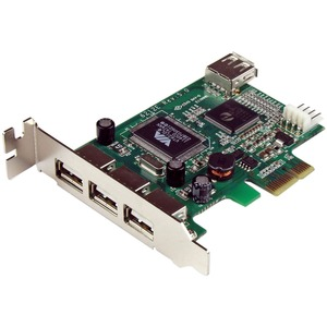 4port Low Profile PCIe USB 2.0 Adapter Card / Mfr. No.: PexUSB4dp