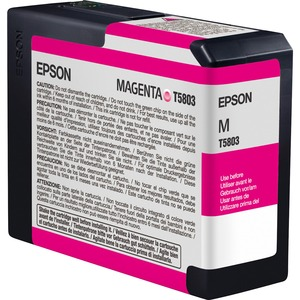 Epson Vivid K3 Magenta Ink Cartridge For Stylus Pro 3880 80ml / Mfr. No.: T580a00