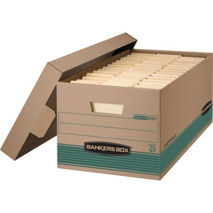 "Bankers Box® EARTH SERIES Recycled STOR/FILE Storage Box 12"" x 24"" x 10"" Letter"