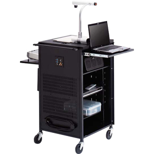 Black Pal Projector Presentation Cart 4in Rubber Casters No Elec / Mfr. No.: Tcp23-Bk