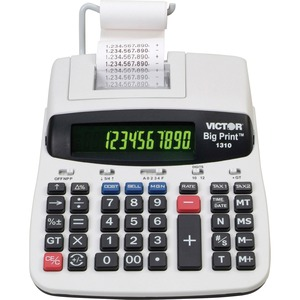 Victor® Big Print 1310 Thermal Printing Calculator