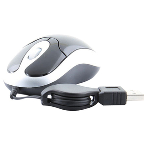 Ms-U3266 3btn Mini USB Optical Wheel Mouse W/ Retractable Cabl / Mfr. No.: Ms-U3266