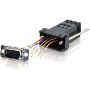 RJ45 To Db9m Modular Adapter Black / Mfr. No.: 02947