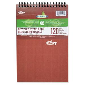 "Hilroy Enviro-Plus  Recycled Steno Notebook 6x9"" 120pgs Assorted Colours"
