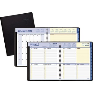 """At-A-Glance® QuickNotes® Weekly/Monthly Diary 9-7/8x8"""" Bilingual Black"""