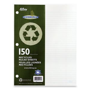 Hilroy Enviro-Plus Recycled Refill Paper Ruled Letter 150 shts/pkg