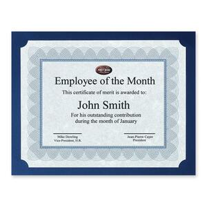 St. James® Certificate Presentation Cards Navy 25/pkg