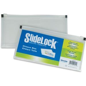 """Winnable SlideLock® Poly Zipper Envelope 5"""" x 10"""" Clear"""