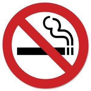 "Headline® International Symbol Sign No Smoking 6x6"""