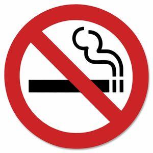 "Headline® International Symbol Sign No Smoking 9x9"""