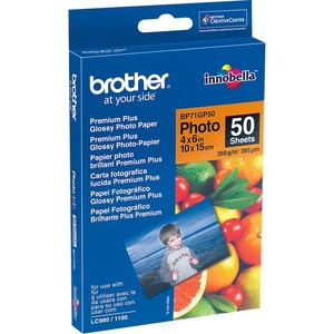 Brother BP - Papier photo brillant - 100 x 150 mm 50 feuille(s) - pour Brother DCP-J100, J105, - BP71GP50