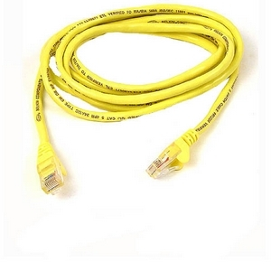 7ft Cat6 Yellow Crossover Snagless / Mfr. No.: A3x189-07-Ylw-S