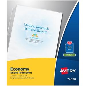 Avery® Economy Page Protectors Non-glare 2 mil 50/pkg