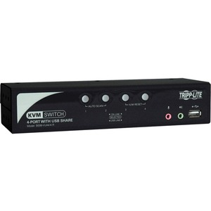 4port KVM Switch W Audio 2port USB2.0 Hub Includes Cables / Mfr. No.: B006-Vua4-K-R