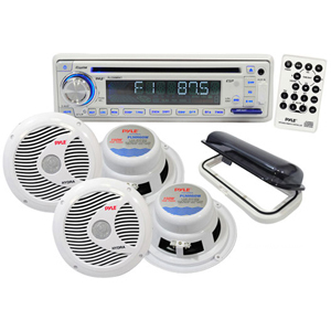 Pyle Marine Cd/USB/Mp3 Reciever Combo 4 Speaker /Stereo Cover B / Mfr. No.: PLCD8mrkt