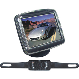 Pyle 3.5in Slim Monitor License Plate Rearview Night Vis Backup / Mfr. No.: Plcm36