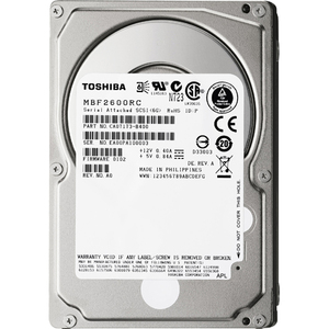 600gb Sas 6gb/S 10k RPM 16mb Disc Prod Special Sourcing See Not / Mfr. No.: Mbf2600rc