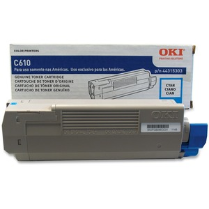 Cyan Toner Cartridge Type C15 For C610 6k Yield / Mfr. No.: 44315303