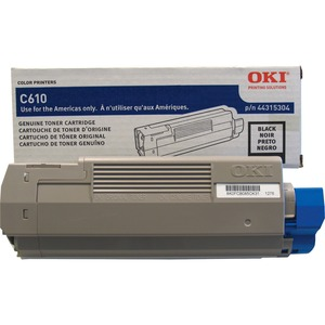 Black Toner Cartridge Type C15 For C610 8k Yield / Mfr. No.: 44315304