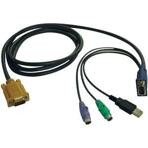 15ft Ps2 USB KVM Switch Combo Cable For B020-U08/U16 and B022-U / Mfr. No.: P778-015
