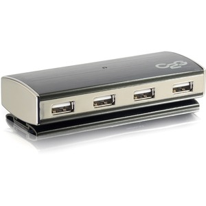 C2g 4-port USB 2.0 Aluminum Hub with Power Adapter / Mfr. No.: 29508