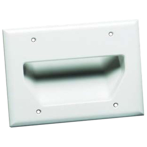 Datacomm 3gang Recessed Lw Vltage Cable Plate Black / Mfr. No.: 45-0003-Bk