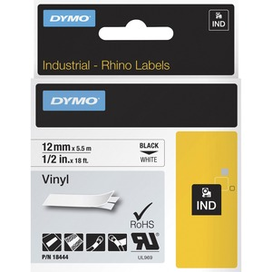 Rhinopro .50in White Vinyl Tape Cartridge / Mfr. No.: 18444