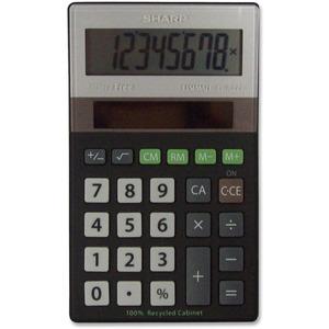 Sharp 8-Digit Green Portable Calculator