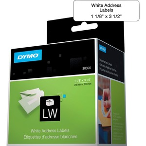 "DYMO® LabelWriter® Standard Address Labels 1-1/8"" x 3-1/2"" White 260 Labels perRoll 2 rolls/box"