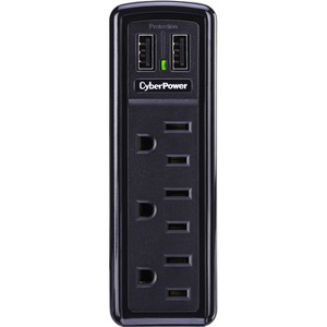 Cyberpower Mobile Surge 3out Wall Tap 918j 2 USB Charger Flip Out Plug / Mfr. No.: Trvl918