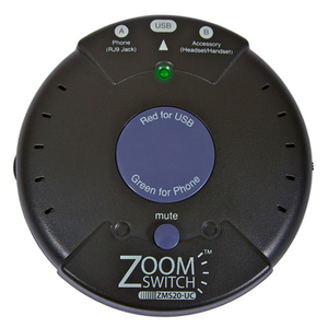 Zoomswitch Headset Adapter For Phone And PC W/Volume And M / Mfr. No.: Zms20-Uc