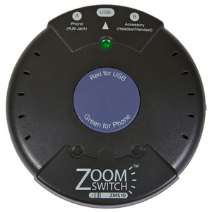 Zoomswitch Voip Headset Switch Between Phone and PC Via USB / Mfr. No.: Zms10-C