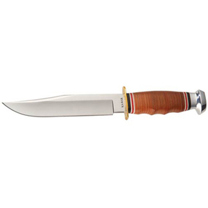 Image KNIFE, BOWIE-STACKED LEAT HANDLE