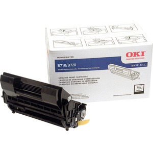 Black Toner Cartridge For Oki B720n And B720dn 20k Page Yield / Mfr. No.: 52123602