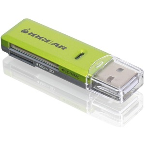 Iogear SD/MicroSD/MMC Card Reader and Writer / Mfr. No.: Gfr204sd
