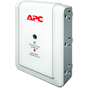 APC Essential Surgearrest 6out Wall Mount With Phone Protection 120 / Mfr. No.: P6wt
