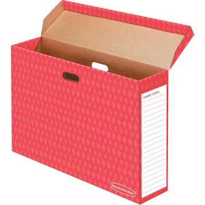 Bankers Box® Bulletin Board Storage Box Red