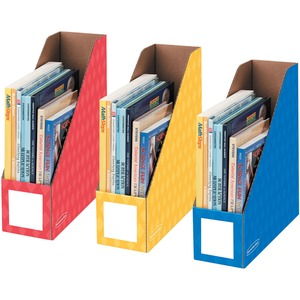 "Bankers Box® Magazine File 4"" Assorted Colours 3/pkg"