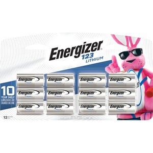 Energizer 123 Lithium Battery 12-Pack / Mfr. No.: El123bp-12