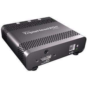 Matrox TripleHead2Go T2G-DP-MIF Graphic Card - 3840 x 1200 - 3 x DisplayPort - PC, Mac - 3 x Monitors Supported