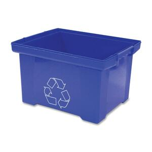 Storex® Recycling Container Large Blue